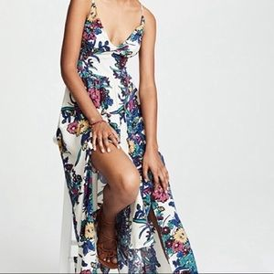 Free People Through the Vine Floral Maxi Dress